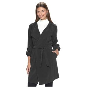APT. 9 Lightweight Draped Trench Jacket